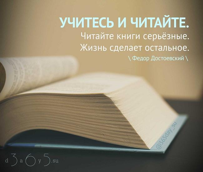 Учитесь и читайте. Читайте книги серьёзные. Жизнь сделает остальное., Фёдор Достоевский, Бочонок Мёда для Сердца
